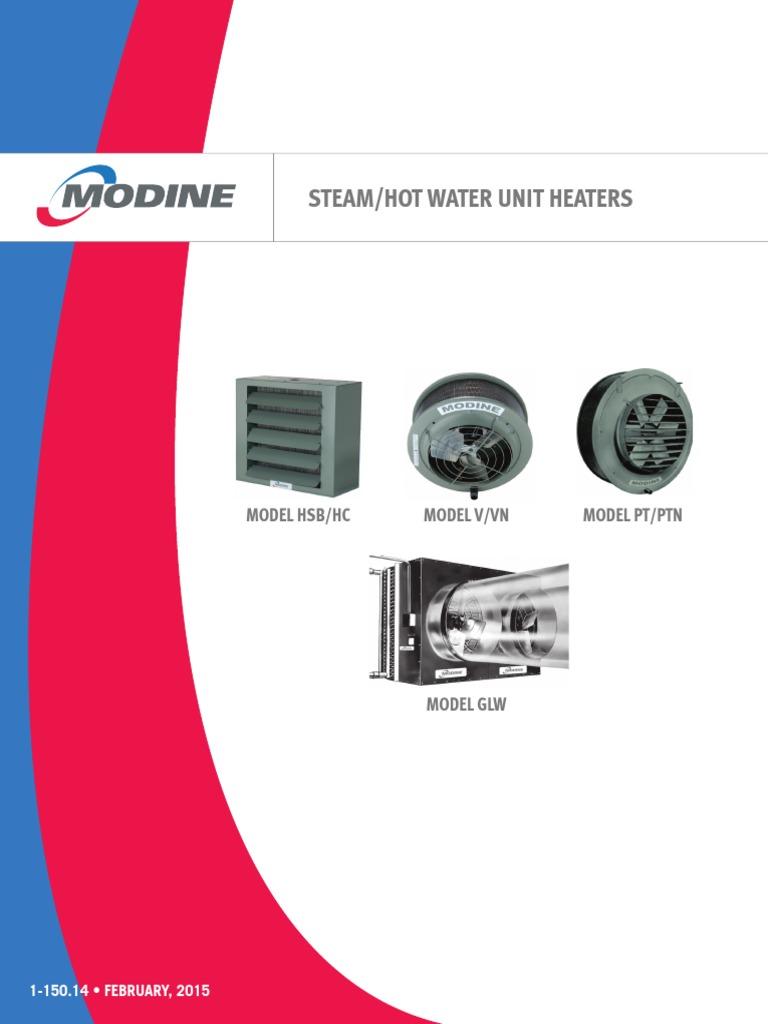 Catalog Steam Hot Water Unit Heaters Modine Hvac