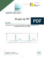 Construction de la courbe d'évolution du rythme cardiaque et de la respiration à partir d'un ECG