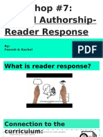 digital authorship- reader response