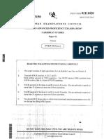 CAPE- Caribbean Studies- Paper 02- 2013