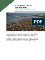 Inmigración y Urbanización - Las Megaciudades Africanas