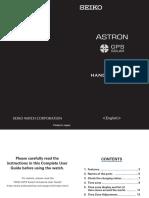 Seiko Astron 8x53 Handy Manual