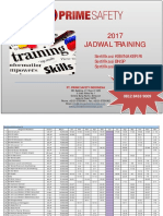 Jadwal Training Psi 2017