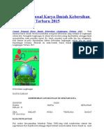Contoh Proposal Karya Ilmiah Kebersihan Lingkungan Terbaru 2015