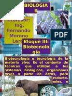 Presentacioni BloqueIII Biotecnología BiologiaII Fray