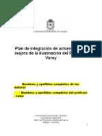 Plan de Integración de Actores Para La Mejora de La Iluminación Del Parque El Virrey