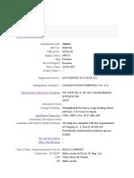 Data Pembanding Kapal