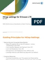 HiCap Settings for Ericsson LTE Rev D