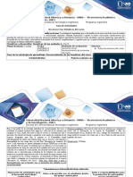 Guía y Rúbrica de Evaluación Inicial - Reconocer Las Temáticas Del Curso-SD