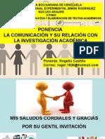 La Comunicación y Su Relación Con La Investigación Académica