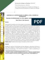 Enseñanza de La Biotecnología en América Latina.