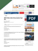 Upsc History Prelims 2011