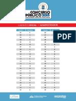 Gabarito Oficial Cp 2015