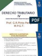 7.1. DT IV. Gastos Rechazados Ejercicio 10