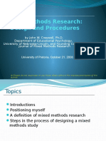 Mixed Methods Research Design and Procedures