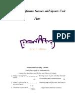 final bowling unit plan