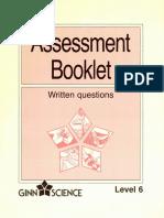 16071-Assessment Booklet Written Question Level 6