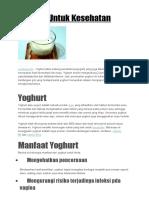 Yoghurt Untuk Kesehatan