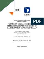 Género y educación formal representaciones de género en la formación docente inicial.pdf