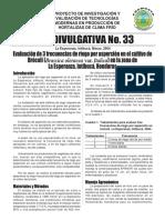 evaluacion de 2 frecuencias de riego en el cultivo de remolacha azucarera