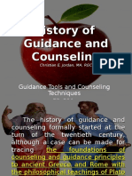 1 History of Guidance and Counseling