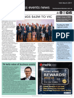 Business Events News for Thu 16 Mar 2017 - Club Melbourne brings $62m to Victoria, Tourism Australia hails business events, MEA skills shortage review, Funding for NSW regional events, and more