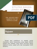 Daktilitas Bahan-Bahan Bitumen