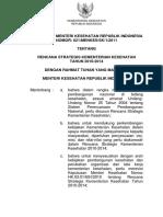 KMK No. 021 Ttg Renstra Kemenkes 2011 2014 Revisi
