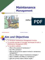 Manintenance Management 2015