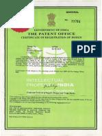 Sunvik Gold XX Design Patent