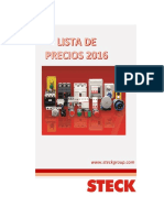 Lista de Precios Steck 2016
