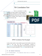 SPSS Tutorials _ SPSS Correlation Test