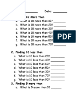 more than less than work sheet