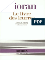 Cioran Emil Le Livre Des Leurres 1992 Gallimard