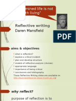Reflective Writing slides