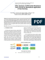 Design and Reliability Analysis of Differential Resistance to Current Conversion Circuit for Biomedical Application of Gas Sensing