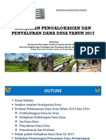 Kebijakan Alokasi Dan Penyaluran Dana Desa 2017
