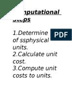 Computational Steps