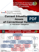 Agenda 1 Indonesia (Current Situation and Issues of Correctional Facilities)