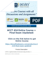 ACCT 434 Entire Course + Final Exam (Updated)