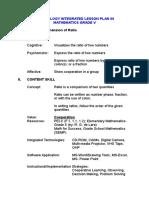 Comprehension of Ratio (Lesson Plan)