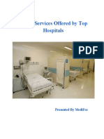 List of Services Offered by Top Hospitals