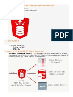Install Oracle REST Data Services (ORDS) for Oracle APEX | Oracle