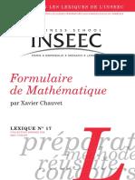 17 Formulaire de Mathematiques Xavier Chauvet