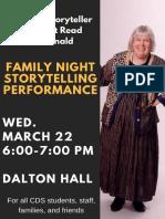 family night storytelling performance