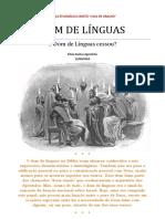 o Dom de Línguas Cessou