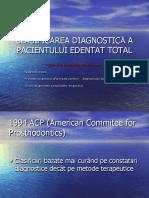 Clasificarea Diagnostică a Pacientului Edentat Total