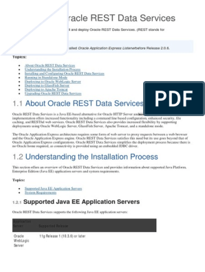 Oracle Rest Data Service (Instal-Config) | Oracle Database