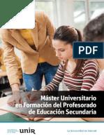 M O Formacion Profesorado Educacion Secundaria Esp