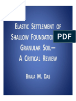 Elastic Settlement a Critical Review